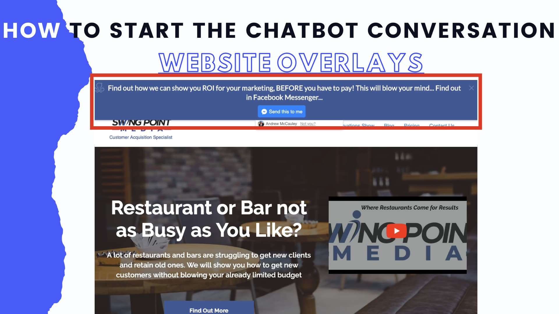 How to get the Chatbot started from your website